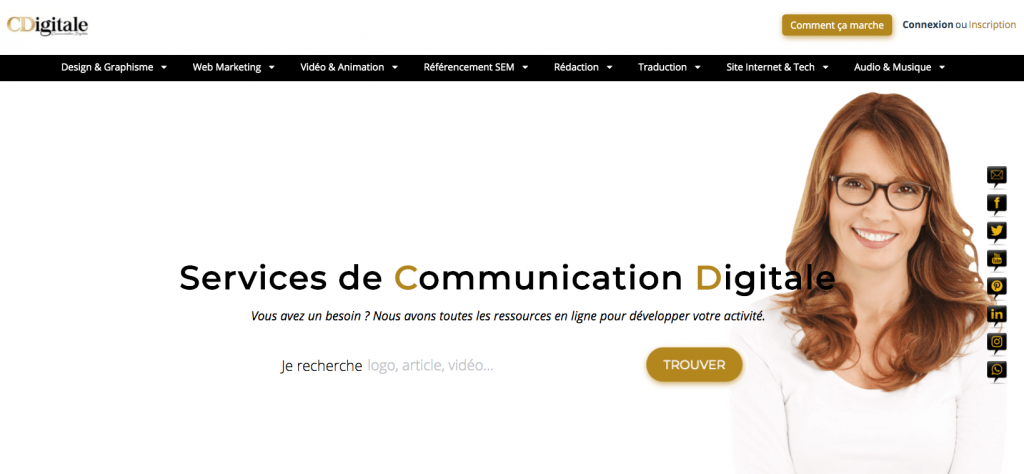 Bons plans Web; CDigitale plateforme freelance