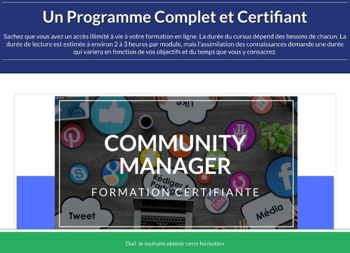 Se former en community management